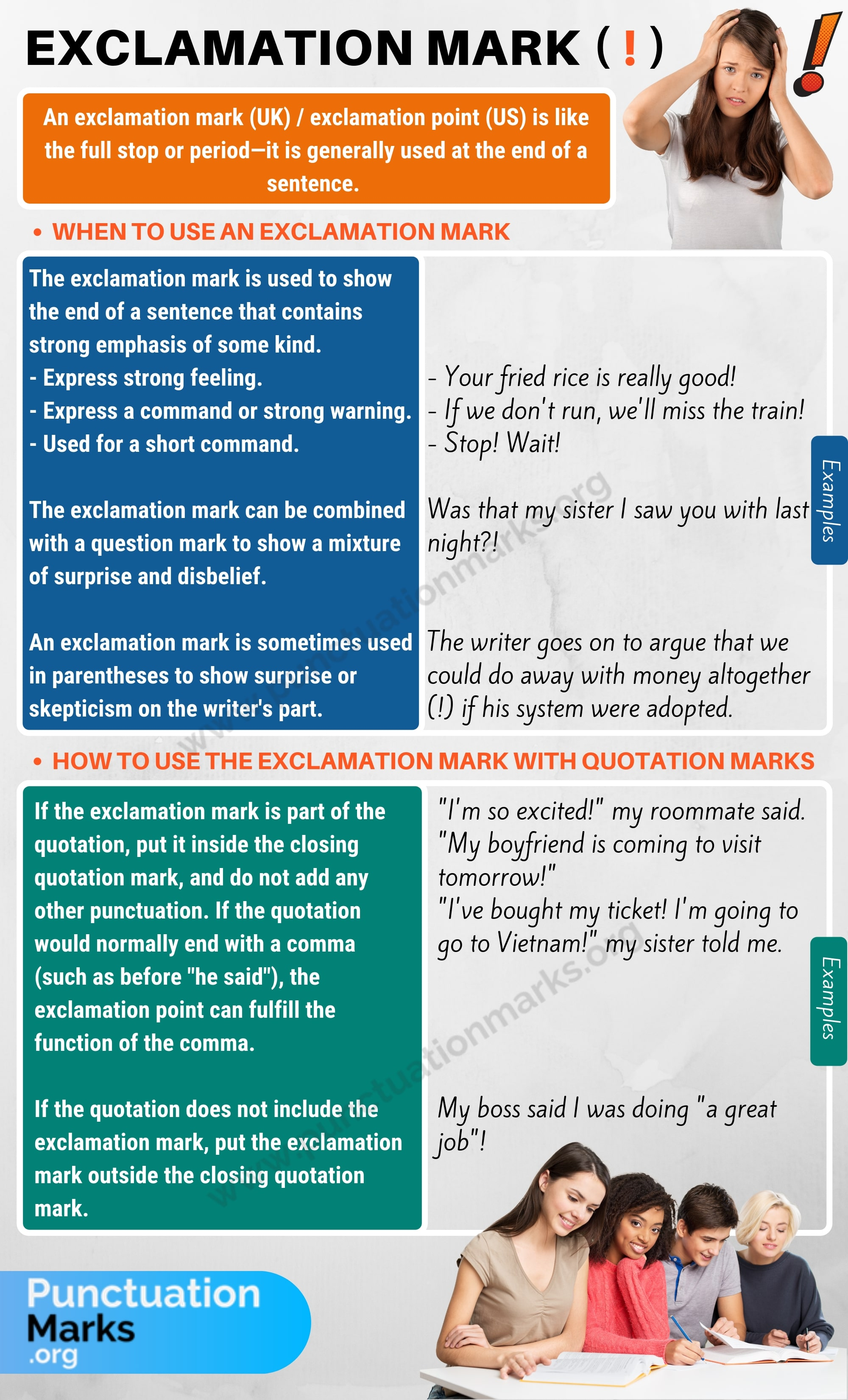 Exclamation Mark/ Exclamation Point (!) Rules & Examples