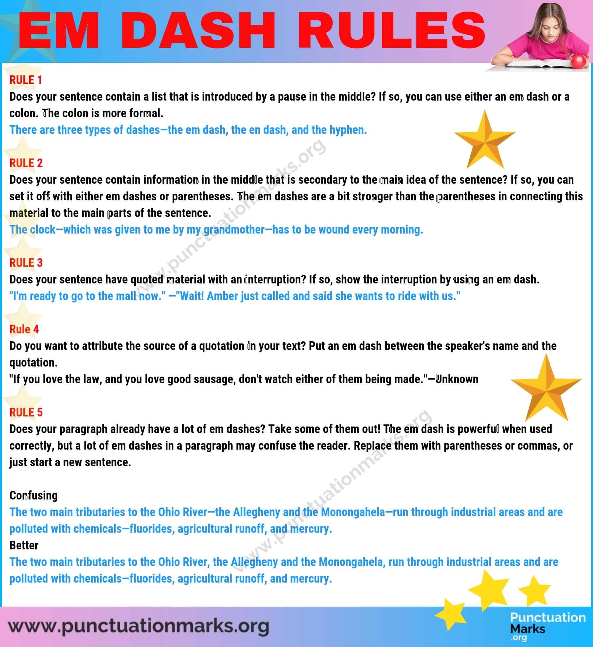 Rules for Using the Em Dash